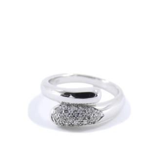 Bvlgari Diamond Set 18kt White Gold Astrea Ring