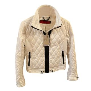 Burberry White Quilted Jacket
