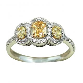 William & Son 18ct Gold Diamond Trilogy Ring