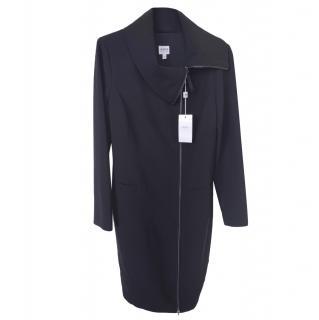 Armani Collezioni Black Asymmetric Trench Coat