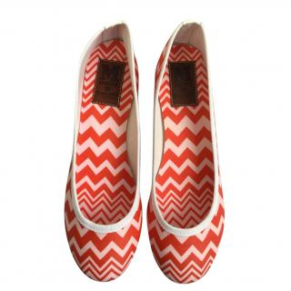 M Missoni For Orphan Aid zig-zag knit ballerina flats