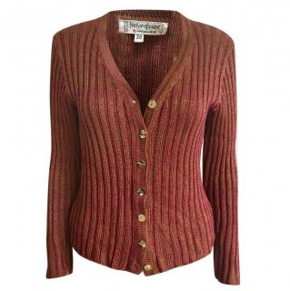 Yves Saint Laurent vintage ribbed knit cardigan