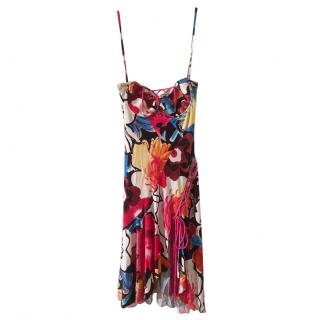 Versus Versace Floral Print Balconette Summer Dress
