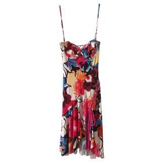 Versus Versace Floral Print Balconette Summer Dress