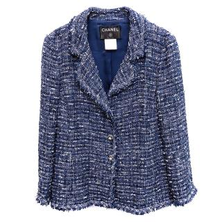 Chanel Blue Lesage Tweed Tailored Jacket