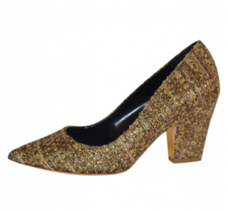 Rupert Sanderson Tweed Pierrot Mid Heel Pumps