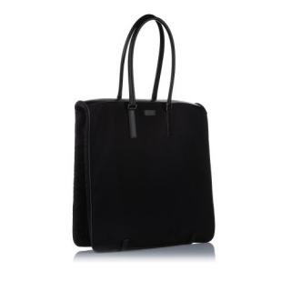 Gucci Black Nylon Leather Trimmed Garment Bag