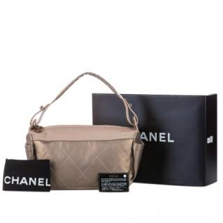 Chanel Quilted Nylon Paris/Biarritz Tote Bag