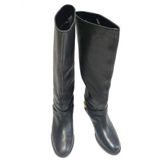 Lauren Ralph Lauren Black Leather Boots