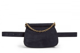 Max Mara Blue Suede Belt Bag