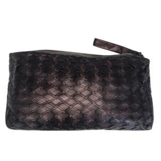 Miu Miu Woven Leather Purple Clutch