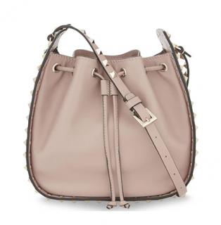 Valentino Poudre Rockstud Bucket Shoulder Bag
