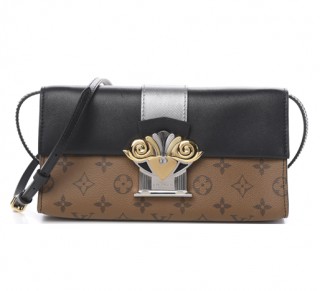 Louis Vuitton Reverse Monogram Column Pochette Shoulder Bag