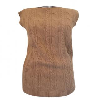 Max Mara Wool & Cashmere Cable Knit Vest
