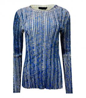 Proenza Schouler Blue Vertical Striped Top