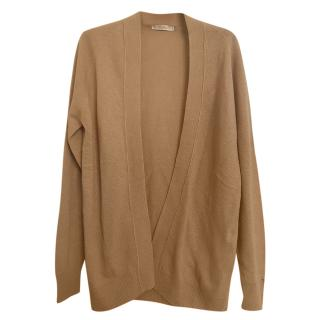 Max Mara Camel Wool Blend Open Cardigan
