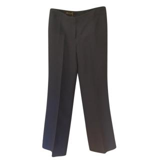 Loro Piana Silk & Cashmere Navy Tailored Pants