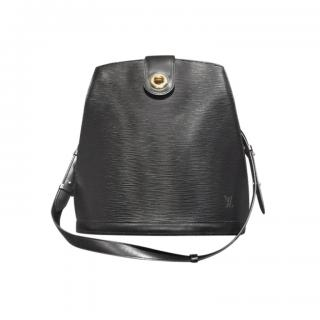 Louis Vuitton Black Epi Leather Structured Shoulder Bag