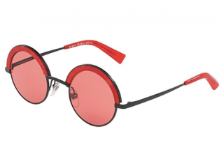 Alain Mikli A04003 631 Red Round Sunglases