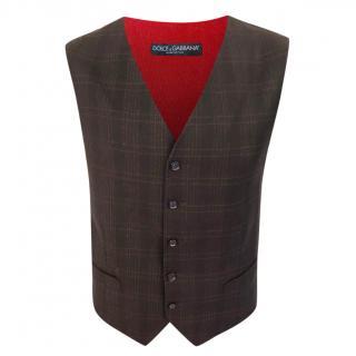 Dolce & Gabbana Black Wool Waistcoat