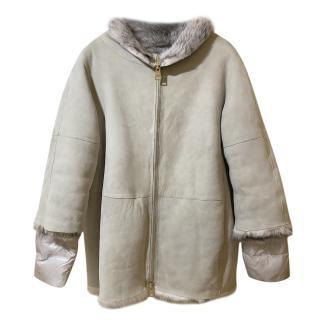 Herno Down Filled Sheepskin Coat