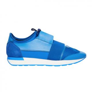 Balenciaga Electric Blue Race Runner Sneakers