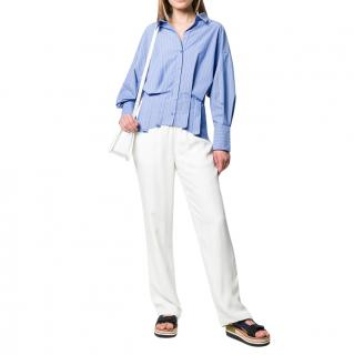 Enfold Blue Striped Corset Shirt