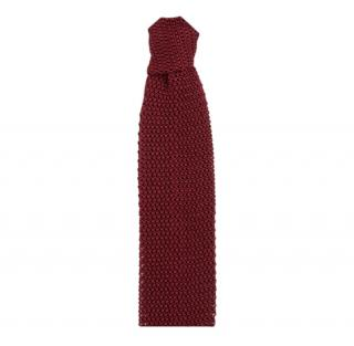 Gieves & Hawkes Burgundy Cashmere Square Tie