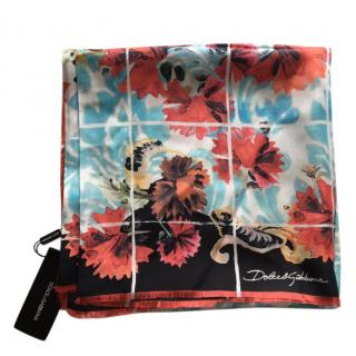 Dolce & Gabbana Multicoloured Silk Printed Scarf