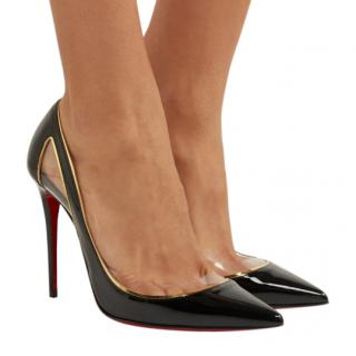 Christian Louboutin Cosmo 100 PVC and patent-leather pumps