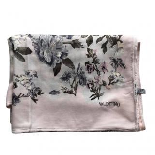 Valentino Cashmere Floral Print Scarf