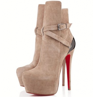 Christian Louboutin Equestria 160mm Taupe Ankle Boots