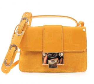 Jimmy Choo Yellow Suede Rebel Shoulder Bag