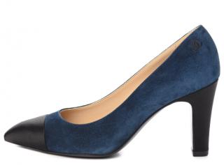 Chanel Blue/Black Suede Gabrielle Coco Pumps