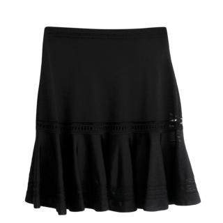 Roberto Cavalli Black Knit Mini Skirt