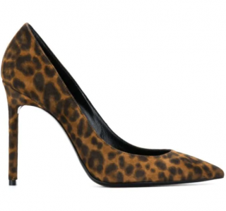 Saint Laurent leopard calf hair Anja 105 pumps