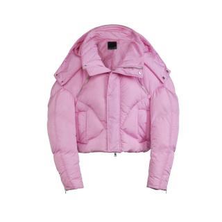 Chen Peng Pink Oversize Puffer Coat