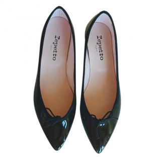 Repetto Black Patent Brigitte Ballerinas