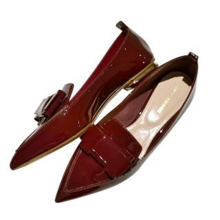 Nicholas Kirkwood Patent Beya Pointed Toe Loafers