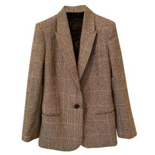 Nili Lotan Houndstooth Classic Tailored Jacket