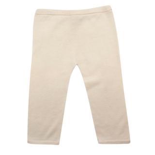 Ovale Ivory Wool Knit Trousers