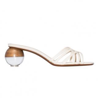 NEOUS White Leather Calpa Sandals 55