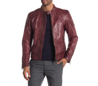 Belstaff Red Outlaw Oxblood Leather Jacket