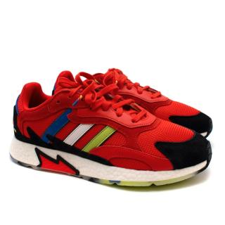 Adidas Original Asterisk Collective TRESC Run Trainers in Active Red