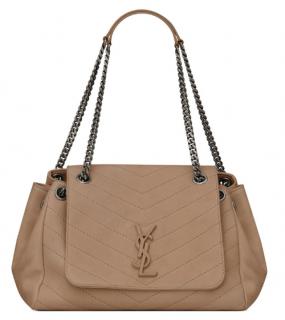Saint Laurent Medium Nolita Taupe Shoulder Bag