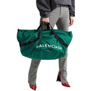 Balenciaga Wheel embroidered shell bag