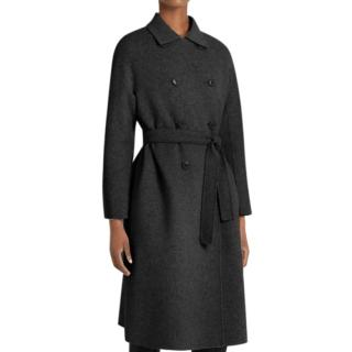 Max Mara Black Wool Double Breasted Coat