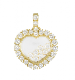 Chopard Yellow Gold Happy Diamonds Heart Pendant
