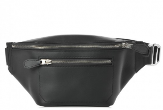 Hermes Black Taurillon Cristobal Cityslide Belt Bag