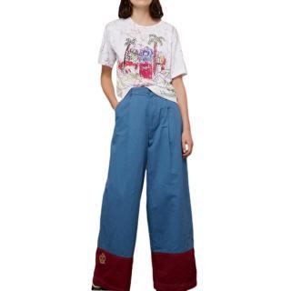 Marni Two-Tone Wide Leg Pants